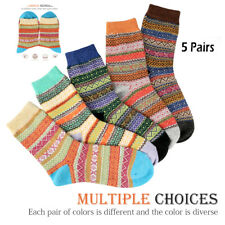 5 Pairs Women Thicken Wool Cashmere Lady Winter Warm Soft Socks Casual Sports