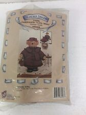 """Treasured Toggery 1920s Fashionable Little Missy Vintage Outfit 12"""" Bear Doll"""