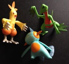 3 X TOMY Pokemon Figures 2016 Combusken Marshtomp Grovyle RARE  Save £2 Multibuy