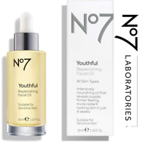 No 7 Youthful Replenishing Facial Oil 30ml - For all skin types