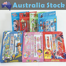 Cartoon Stationery Set 7 in 1 Spider Man Mickey Thomas Dora McQueen Toy Story