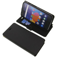 Case for Alcatel One Touch Pixi 4 5.0 3G Book-Style Protective Case Black Book