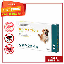 REVOLUTION Heartworm Flea treatment 3 Pipettes for dogs 20.1 to 40 Kg Teal Pack