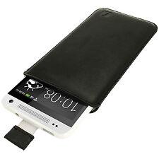 Étui Housse Tirette Pochette Case Cover Cuir pour HTC One Mini M4 Smartphone