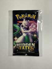 More details for pokemon - hidden fates - booster pack x1 new and sealed - mewtwo artwork - tcg
