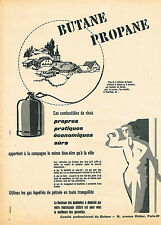 PUBLICITE ADVERTISING 045  1956  BUTANE PROPANE   en bouteille