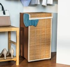 Laundry Basket Hamper Storage Clothes Tall Organizer Wicker Bin Bedroom Lid New