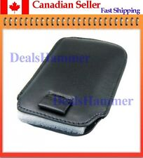 Leather Case For IPHONE 3G / 3GS / 4G 4 4S  BLACK SHIP FROM CANADA