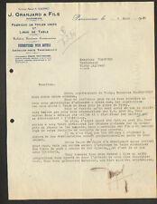 """PANISSIERES (42) USINE de LINGES DE TABLE & TISSUS """"J. GRANJARD & Fils"""" en 1930"""