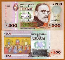 Uruguay, 200 Pesos Uruguayos, 2011, Pick 89 (89b), serie E, UNC