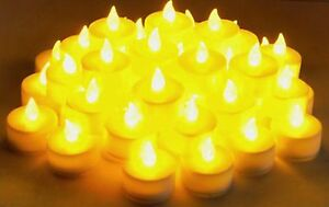 Flameless LED  Tealight Candles Tea Light Candle 48pcs Battery Operated  LCL48
