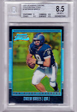2001 Bowman Chrome Drew Brees GOLD Refractor Rookie /99  BGS 8.5 HOF!!!
