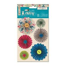 PAPERMANIA LOVELY PIN WHEELS FOR CARDS & CRAFTS