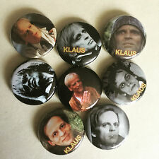 "Klaus Kinski set of 1"" pinback buttons"