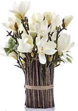 NEW 'FLORABELLE' Artificial White Magnolia Tree Bundle Arrangement   RRP$299