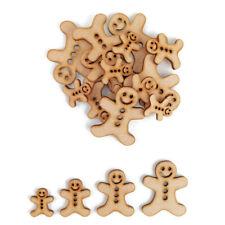 Gingerbread man  MDF Craft Shapes Wooden Christmas Tree Decoration Embellishment