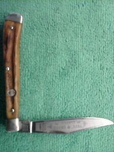"Vintage Boker Model 4093 ""Tree Brand Classic"" Slimline 1 Blade Stag Knife"