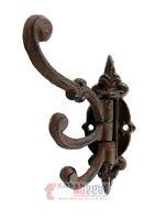 1 Cast Iron Antique Style SWIVEL Coat Hooks Hat Hook Rack Hall Tree Restoration