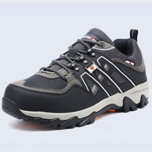 Men Steel Toe Prevent Puncture Safety Shoes Breathable Casual Sneaker Work Boots