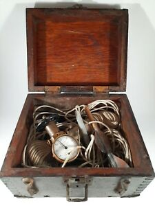 Antique Negus Patent Log Taffrail in Dovetailed Wood Box Brass Corners Measure