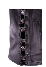 Maltese Cross Biker Symbol Lace Up Charm (6) Motorcycle Vest Boots Free Shipping