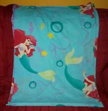 Disney The Little Mermaid Ariel Full Size Flat Sheet Cutter Fabric Blue