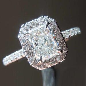 1.16 CT Naturale Diamante Donna Fidanzamento Anello 950 Platino Misura 8 7 6 5.5