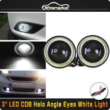 3Inch COB LED Fog Light Projector Car Lamp White Halo Angel Eye Ring DRL Bulb US
