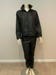 LAUREN Ralph Lauren 2 Piece Black Workout Active Track Suit, Size Petite Small