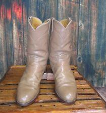 Ladies Justin Brown Leather Roper Cowboy Western Boots sz: 7.5 B