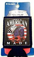 Beverage Huggy Koozie Can Patriotic American Flag Bottle Insulator Red White New