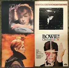 David Bowie: 5 LP Lot Young Americans Station To Station Low Chameleon Tonight