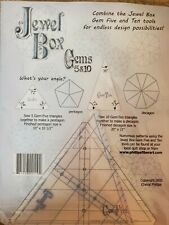 Jewel Box - Gems 5 & 10 - Quilting Templates triangle rulers set