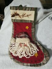"Large Santa Claus Christmas Stocking 17"" Tall"