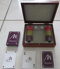 Coffret en bois Poker Marionnaud : 1 jeu de 54 cartes, 2 dés, 60 jetons
