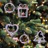 Christmas Tree Ornaments Hanging Xmas Tree Party Decor 3D Wooden Pendant HOT