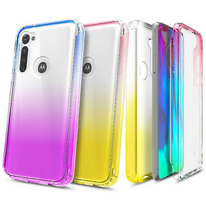 For Motorola Moto G Stylus Built-In Screen Protector Case Gradient TPU Cover