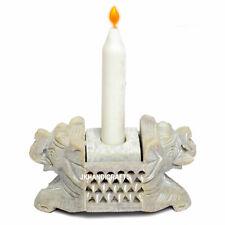 Natural Stone Candle Holder Incense Burner Decorative Antique Vintage Art Gifts