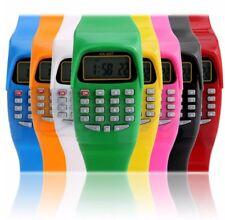 Kids Calculator Wrist Watch School Date/Time Children's Digital Sports Work UK