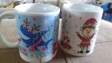 brand new - 2 x christmas mugs - PURPLE BOX