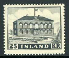 Iceland 1952 Parliament Building 25 Kronor Scott 273 MNH K179