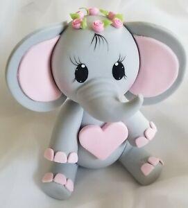 Pink Elephant Baby Shower Little Peanut Girl Elephant Cake Decoration Princess