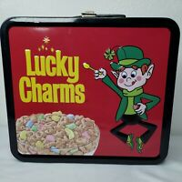 TRIX / LUCKY CHARMS Cereal Large Tin Tote / Metal Lunch Box Used