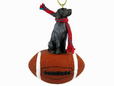 German Shorthaired Pointed Dog Football Sports Figurine Ornament