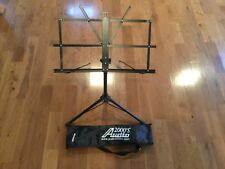 Audio2000's AST4442BK Sheet Music Stand w/ Carrying Bag Adjustable