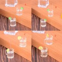 2x Dollhouse miniature 1:6 1:12 jouet d'eau de boisson de citron tasse de verre