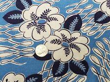 Best Vintage Feedsack Quilt Fabric 40s Blue Floral Swirls Flour Full Sack Wwii