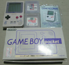 Nintendo Gameboy Pocket with Box and Literature, Japan MGB-001, No Battery Cover