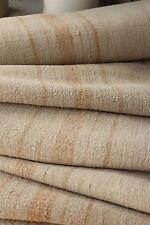 Grain sack grainsack fabric vintage linen 9.8 y toffee caramel Nubby upholstery