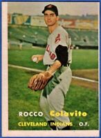 Sharp 1957 Topps #212 ROCKY COLAVITO Cleveland Indians ROOKIE Card NM